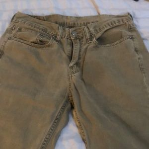 Levi 514 army green jeans